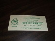 JULY 1987 TIOGA CENTRAL EVENING EXPRESS TICKET