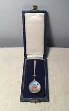 English Birmingham Sterling Silver & Enamel Little Miss Muffet Nursery Spoon