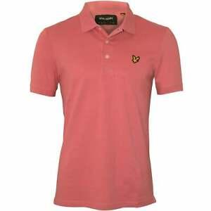 Lyle & Scott Classic Pique Men's Polo Shirt, Pink Shadow