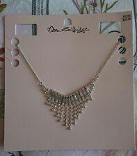 MISS SELFRIDGE NECKLACE Silver Tone, Diamanté Glamorous Prom Style BNWT £12.50!