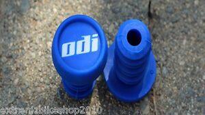 ODI Nylon Push In Style BMX Handlebar Ends - BMX Bar Ends - BLUE