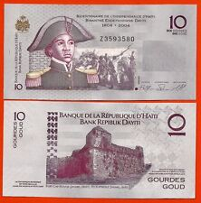 HAITI RARE  billet neuf  10 GOURDES Pick272a  FAUTE PREFIX  Z 2004