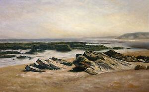 SEASCAPE Oil painting - Carlos de HAES - 100x58 cm / stretched