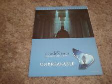 Unbreakable Oscar ad Bruce Willis on glass, M. Night & The Contender Joan Allen