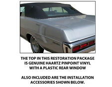 DODGE POLARA CONVERTIBLE TOP DO IT YOURSELF PACKAGE 1969-1970
