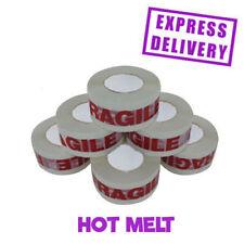 72 ROLLS HOT MELT FRAGILE-PRINTED BIG PARCEL SEALANT 48MM X 150M!!!