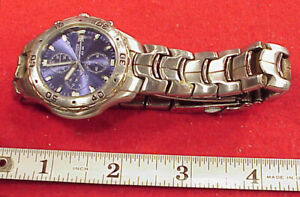 Citizen WR-100 10 Bar Chronograph WristWatch - GN-4-S 0510-992294 Need Crystal