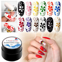 12 Colors T-TIAO CLUB UV Gel Nail Polish Soak Off Painting Nail Art Gel Varnish