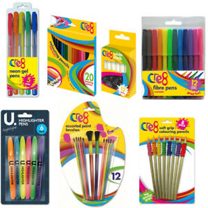 Kids Adults Colouring Pencils Colouring Pens Chalk Paint Brushes Highlighters