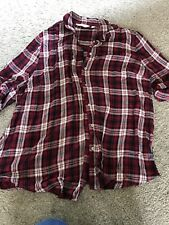 Ladies Dorothy Perkins Red Check Maternity Shirt Size 16 Worn Once!