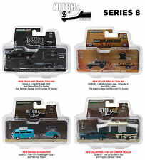 HITCH & TOW SERIES 8 SET OF 4 1/64 DIECAST MODEL CARS GREENLIGHT 32080 A-B-C-D