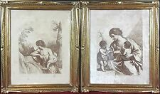 PAIR OF RELIGIOUS ENGRAVINGS. PAPER. GUERCINO/ F. BARTOLOZZI. ITALY. 18TH-19TH C