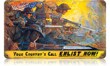 Your Country's Call Metal Sign - Hand Made in the USA with American Steel