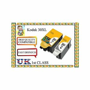 6 compatible Inks  for Kodak 30 XL Black & Colour for ESP C110 C310 C315 Printer