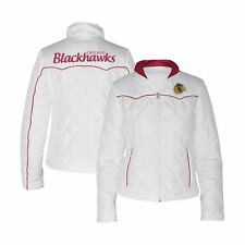 G-III Women's NHL Chicago Blackhawks Quilted Jacket - White (M)