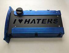 Custom (I LOVE HATERS) Spark Plug Cover for Mitsubishi Evolution EVO 8 9 - 4G64