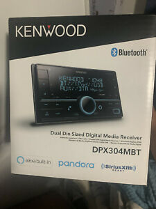 Kenwood DPX304MBT Double DIN in-Dash Digital Media Receiver with Bluetooth -...