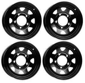 4 Dotz Dakar dark wheels 7.0Jx16 5x165,1 for Land Rover Defender Discovery Range