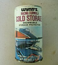 VINTAGE WYNN'S RACING FORMULA COLD STORAGE SNOWMOBILE ADVERTISING OIL FULL CAN