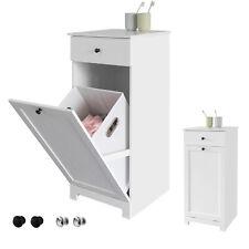 SoBuy Wäscheschrank mit ausklappbarem Wäschesack Wäschetruhe BZR21-W