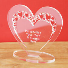 Personalised Heart Message Ornament Keepsake Valentine's Day or Anniversary Gift