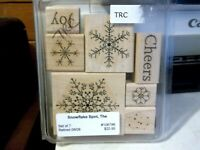 Stampin Up The Snowflake Spot Set Of 7 Stamps