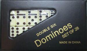 DOMINOES ONLINE DOUBLE SIX GAME MINI SET 28 TILES & CASE/FREE DOMINO SALE