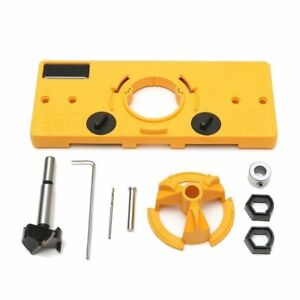 35MM Cup Style Hinge Boring Jig Drill Guide Set Door Hole Template For F1G7