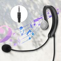 Earhook 3.5mm In Ear Stereo Single-sided Mono Earbud Earphone Headset Headphone