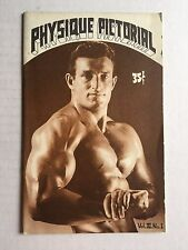 August 1961 Physique Pictorial Gay Men's Magazine w/ Early Tom of Finland Art