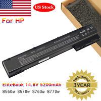 Laptop Battery for HP EliteBook 8560w 8570w 8760w 8770w 14.8V 5200mAh