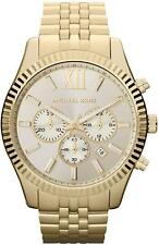 NEW MICHAEL KORS MK8281 GOLD LEXINGTON CHRONOGRAPH WATCH - 2 YEAR WARRANTY