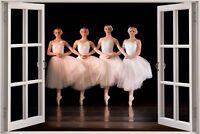Huge 3D Window view Ballet Dancing Sticker Decal Wallpaper 1093