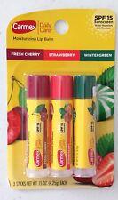 X3 Carmex Daily Care Click Stick Fresh Cherry, Strawberry and Wintergreen Spf 15