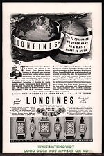 1937 LONGINES-WITTNAUER Men's & Ladies Wrist Watch Antique AD w/original prices