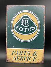 Garage Sign with Lotus Service & Parts Logo