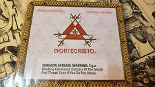 Vintage Original MONTECRISTO Premium  Tin Metal Box Case 10 Small Cigar.