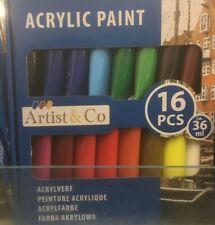 16 Tubes Peinture Acrylique Artist&co