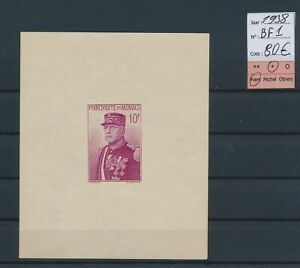LO45031 Monaco 1938 prince Louis II imperf sheet MH cv 80 EUR