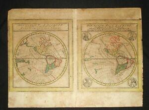 Antique World map of America: Canada & South America Pre United States 1520-1550