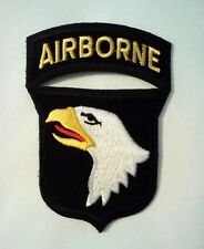 """101st Airborne Patch with Rocker Iron or Sew on   3"""" x 2 1/4"""""""