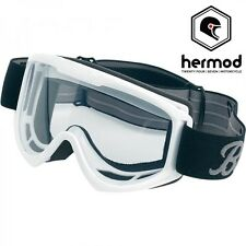 Biltwell Moto Motorcycle Vintage Retro Cafe Racer Riding Goggles - White