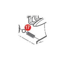 Givi Z1384R Molla serratura e Sfera d'acciaio