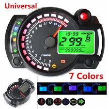 15000rpm Motorcycle Bikes Digital Speedometer Tachometer Odometer Gauge 7-Colors