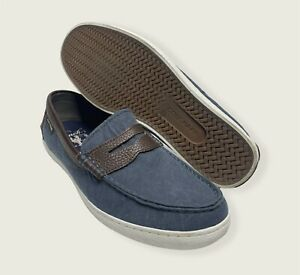 Cole Haan Grand Os Pinch Blue Casual Slip On Penny Loafers Boat Shoes Men's 10M