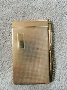 Vintage Metal Notebook with mechanical pencil