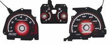 JDM Type R RED Glow Gauge Face Overlay For 1988-1989 HONDA CRX CR-X HF with Tach