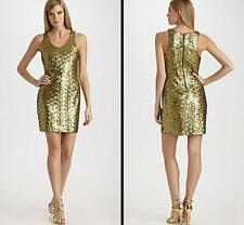 Alice Olivia Dress Size XS 0 2 Sequin Silk NWT Gold Formal Party Cocktail $495