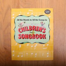 Vintage Readers Digest All The Words To All The Songs Children's Songbook