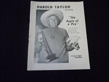 Harold Taylor Presents The Angle of a Pro, Supreme Magic Publication